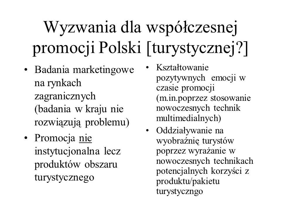 Wyzwania dla współczesnej promocji Polski [turystycznej ]